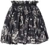 Alexander McQueen bird sketch mini skirt