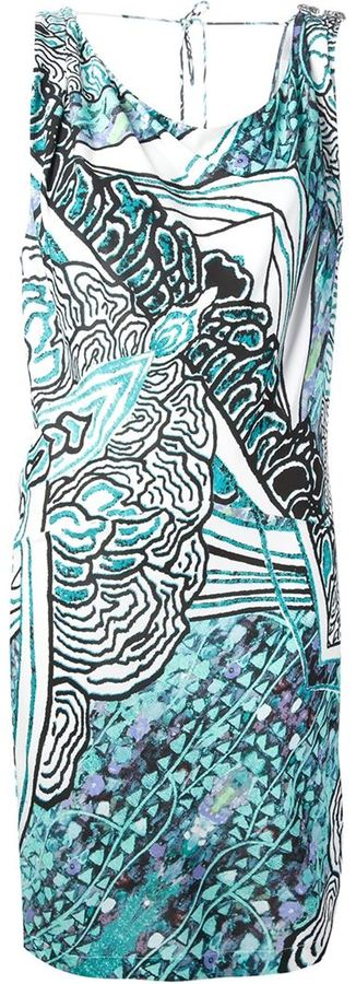 Roberto Cavalli artistic print dress