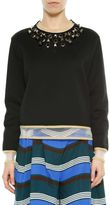 Fendi Black&gold Studs Long Sleeves Sweatshirt