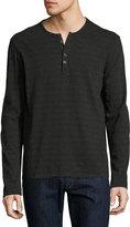 ATM Anthony Thomas Melillo Space-Dyed Henley T-Shirt, Asphalt