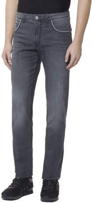 Stefano Ricci Men's Embroidered Patch Denim Jeans