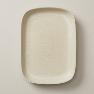 Oui Organic Stoneware Serving Tray Ivory Medium