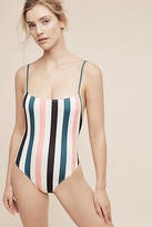 Solid & Striped Vertical One-Piece Swimsuit