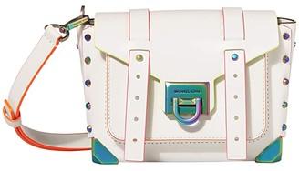 MICHAEL Michael Kors Manhattan Small Messenger Crossbody (Optic White) Handbags