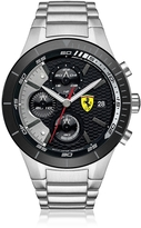 Ferrari RedRev Evo Silver Tone Stainless Steel Men's Chrono Watch