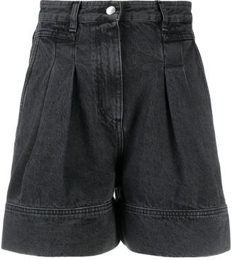 IRO Pleated Denim Shorts