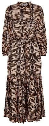 MUNTHE Karma Zebra Print Midi Dress
