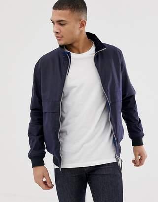 Barbour Rona wax zip through jacket in navy