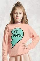 Forever 21 Girls BFF Heart Sweater (Kids)