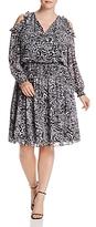 MICHAEL Michael Kors Animal Print Cold-Shoulder Dress