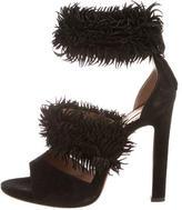 Alaia Multistrap Fringe Sandals