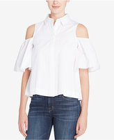 Catherine Malandrino Cotton Linette Cold-Shoulder Shirt