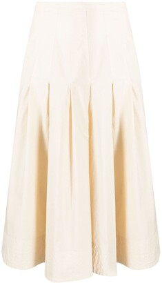 Barena pleated A-line skirt