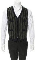 Moncler Striped V-Neck Vest