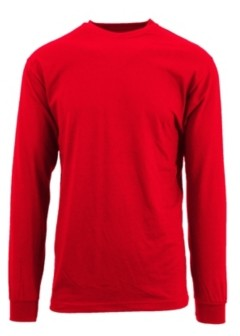 Galaxy By Harvic Men's Egyptian Cotton-Blend Long Sleeve Crew Neck Tee