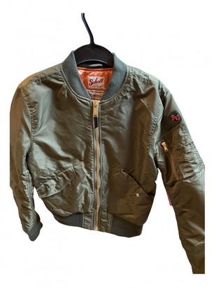 Schott Khaki Polyester Leather jackets