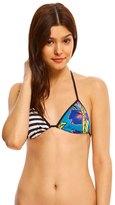 Roxy Pop Surf Polynesia Triangle Print Bikini Top 8142176