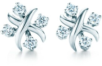 Tiffany & Co. Schlumberger Lynn earrings in platinum with diamonds