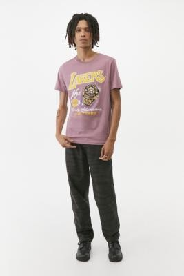 Mitchell & Ness LA Lakers Rings Pastel T-Shirt - Purple S at Urban Outfitters