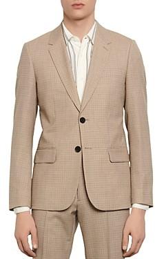Sandro Slim-Fit Havana Micro-Check Suit Jacket