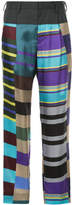 Kolor high-waisted stripe trousers