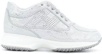 Hogan snakeskin effect sneakers