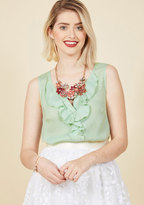 ModCloth Whistle Through the Workday Sleeveless Top in Mint in 1X
