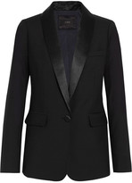 J.Crew Hugh Satin-trimmed Wool Blazer - Black