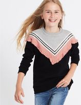 Marks and Spencer Cotton Rich Sweatshirt (3-14 Years)