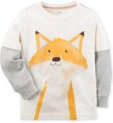 Carter's Fox Graphic-Print Shirt, Toddler & Little Boys (5-8)
