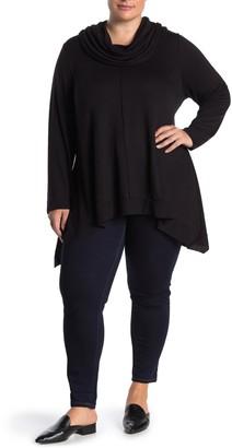 Grace Elements Hi-Low Cowl Neck Jersey Pullover