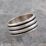 Otis Jaxon Silver Jewellery Men's Chunky Sterling Silver Spinning Ring