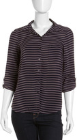 Splendid Striped Button-Down Shirt, Shadow