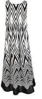 My Michelle 7-16 Chevron-Printed Maxi Dress