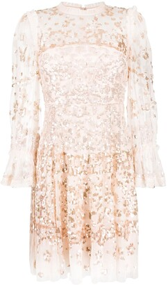 Needle & Thread Sequin Embroidered Mini Dress