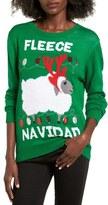 Ten Sixty Sherman Women's Fleece Navidad Graphic Christmas Sweater