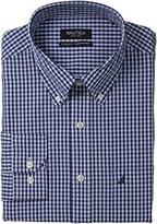Nautica Men's Gingham Poplin Dress Shirt