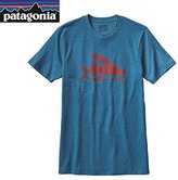 Patagonia Mens Flying Fish Cotton/Poly T-Shirt (XXL, Underwater Blue)