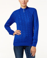 Karen Scott Petite Cable-Knit Sweater, Only at Macy's