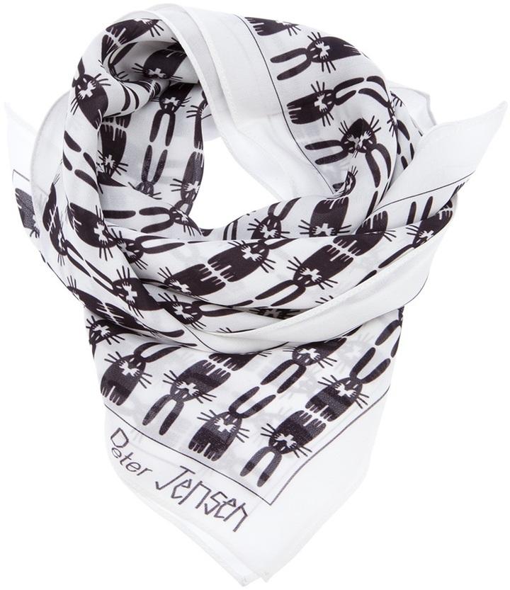 Peter Jensen 'Georgette Sqaure' scarf