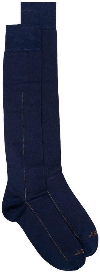 Marcoliani Milano Line Print Socks