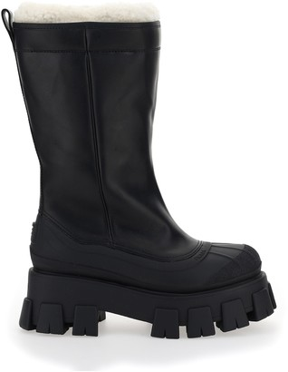 Prada Shearling Lined Chunky Sole Boots