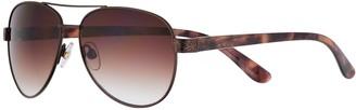 Apt. 9 Women's 58mm Filigree Trim Aviator Sunglasses