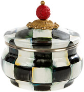 Mackenzie Childs Courtly Check Enamel Squashed Pot