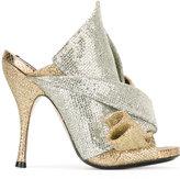 No.21 metallic glittery mules - women - Calf Leather/Leather/Nylon - 35