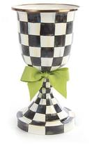 Mackenzie Childs MacKenzie-Childs Courtly Check Pedestal Vase with Green Bow