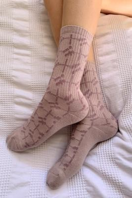Urban Outfitters iets frans. Monogram Crew Socks - Black ALL at