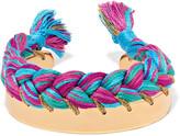Aurelie Bidermann Copacabana gold-plated braided cotton bracelet
