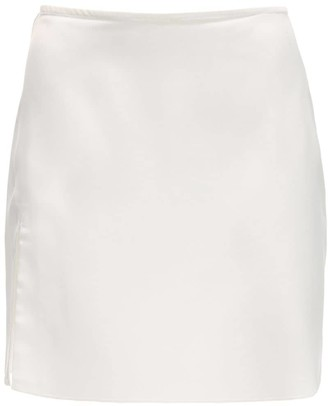 Danielle Guizio Satin Mini Skirt