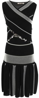 Roberto Cavalli Crossover Sequin-embellished Jacquard-knit Dress